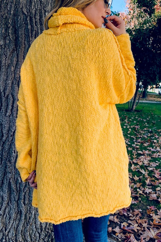 Warm Turtle Neck Sweater Yellow