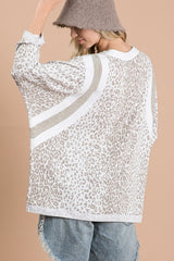 Buy Leopard Print Soft Color Block Top Taupe online at Southern Fashion Boutique Bliss