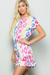 Buy Multi-Color Animal Print Romper Ivory online at Southern Fashion Boutique Bliss