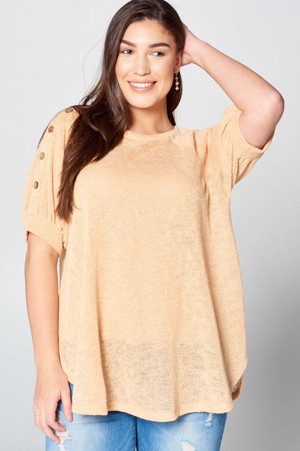 Buy Semi-Sheer Button Down Casual Top Orange online at Southern Fashion Boutique Bliss