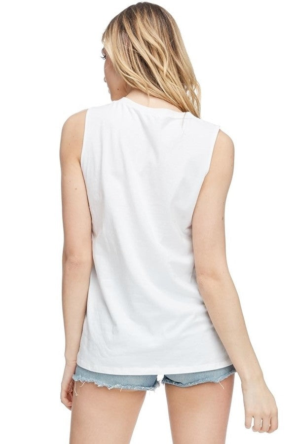 Buy Distressed Girl Gang Graphic Top Ivory online at Southern Fashion Boutique Bliss
