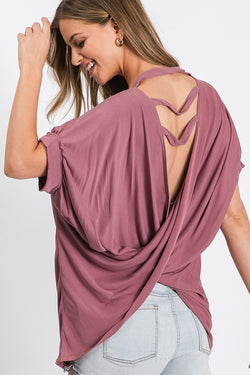 Buy Double Strip Flip Over Back Top Mauve online at Southern Fashion Boutique Bliss