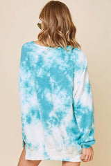 Buy Washed Tie Dye French Terry Sweatshirt Turquoise online at Southern Fashion Boutique Bliss