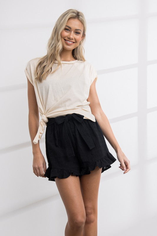 Buy Janet Ruffle Shorts Black online at Southern Fashion Boutique Bliss