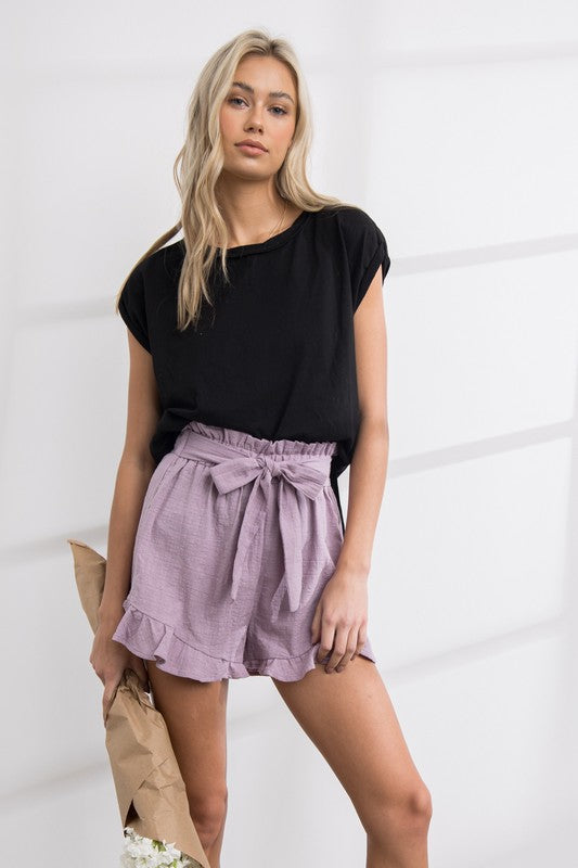 Buy Janet Ruffle Shorts Lavender online at Southern Fashion Boutique Bliss