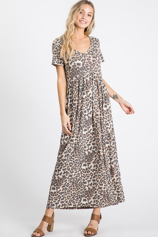 Buy Animal Print Maxi Dress Mocha online at Southern Fashion Boutique Bliss