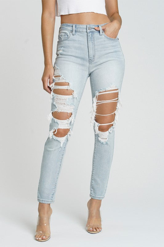 Buy Bella Super High Rise Skinny Jeans Light online at Southern Fashion Boutique Bliss