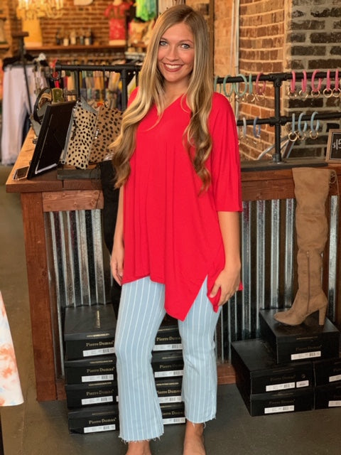 Buy Mid Rise Crop Flare Jean Light Denim online at Southern Fashion Boutique Bliss