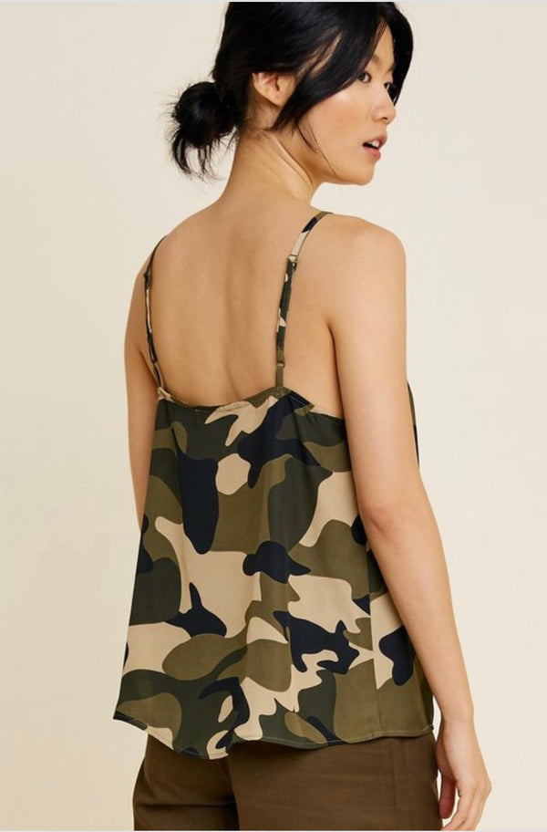 Buy Lightweight Camouflage V-Neck Cami online at Southern Fashion Boutique Bliss