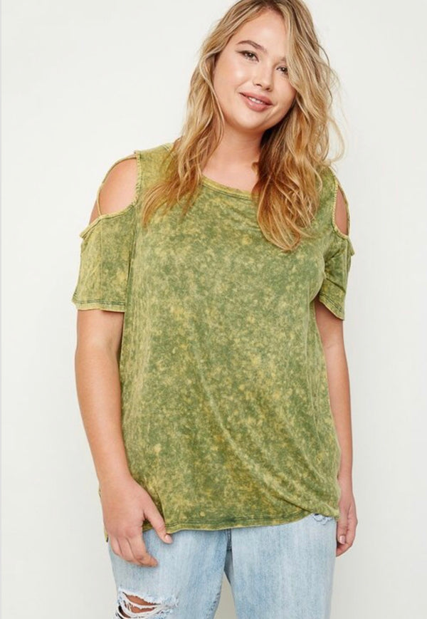 Buy Strappy Cold Shoulder Top Moss Green online at Southern Fashion Boutique Bliss
