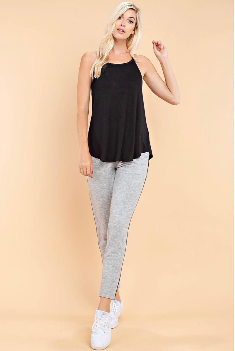 Buy Rayon Ribbed Fabric Tank Top Black online at Southern Fashion Boutique Bliss