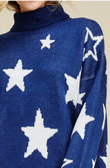 Buy Star Sweater with Haulter Neck Navy online at Southern Fashion Boutique Bliss