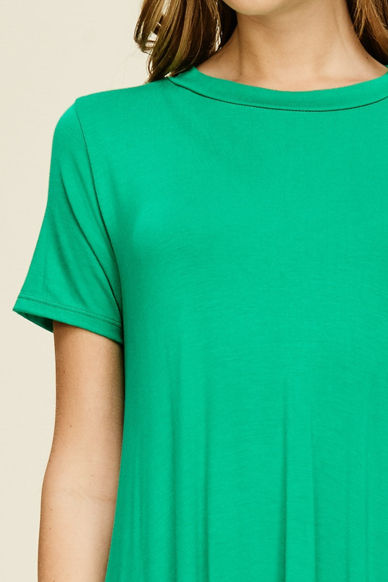 Buy Short Sleeve High Low Tunic Top Kelly Green online at Southern Fashion Boutique Bliss