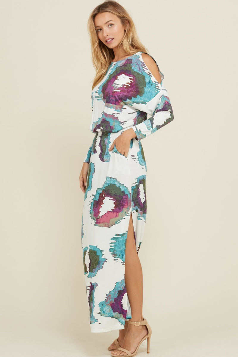 Buy Open Shoulder Maxi Pocket Dress Off White online at Southern Fashion Boutique Bliss