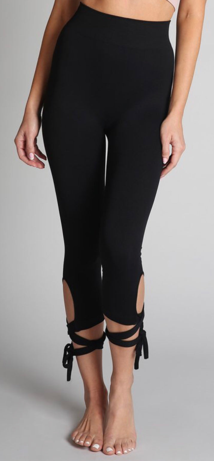 Buy Ballerina Leggings Tied Ribbon Black online at Southern Fashion Boutique Bliss