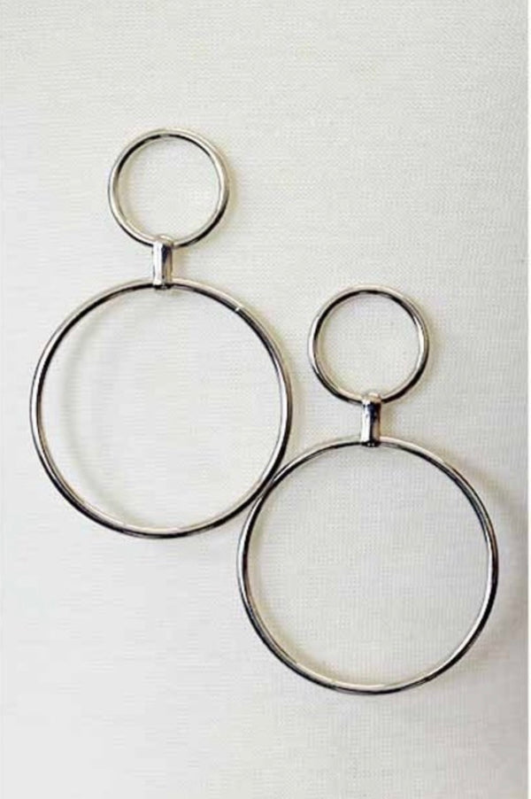 Buy Ring Accent Drop Earrings Silver online at Southern Fashion Boutique Bliss