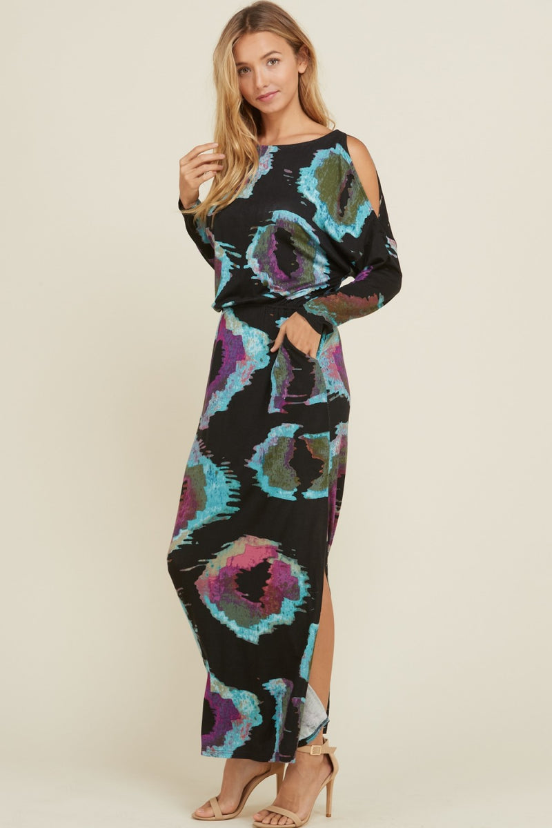 Buy Open Shoulder Maxi Pocket Dress Black online at Southern Fashion Boutique Bliss