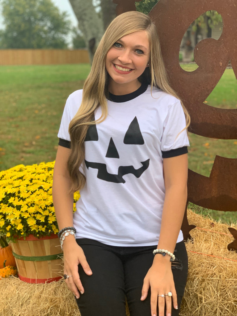 Buy Jack O Lantern Tee Black/White online at Southern Fashion Boutique Bliss