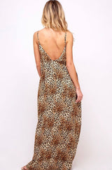 Buy Leopard Printed Maxi Dress Brown online at Southern Fashion Boutique Bliss
