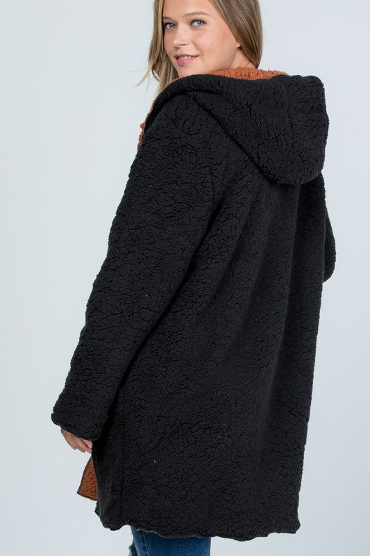 Buy Oversized Teddy Faux Fur Jacket Black online at Southern Fashion Boutique Bliss