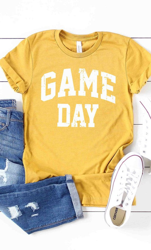 Game Day Graphic Tee Mustard