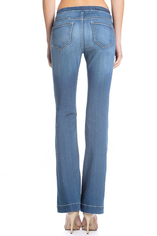 Buy Medium Denim Washed Flared Jegging online at Southern Fashion Boutique Bliss