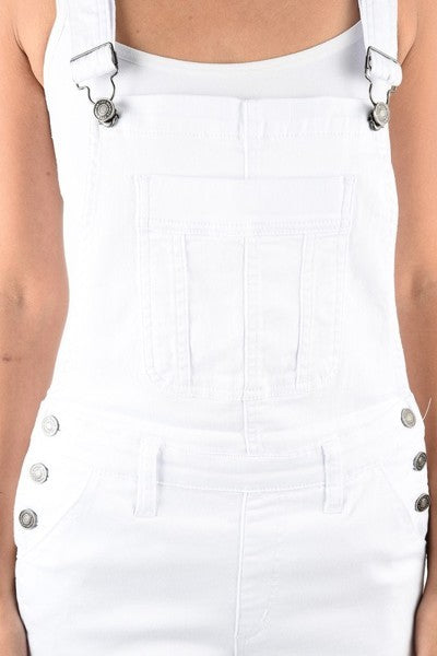 Buy Overall Shorts with Front Pocket White online at Southern Fashion Boutique Bliss