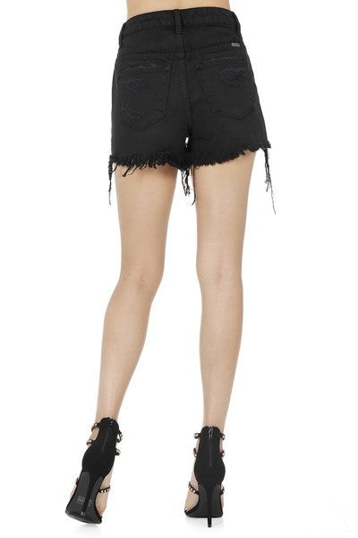 Buy Destroyed High Rise Shorts Black online at Southern Fashion Boutique Bliss