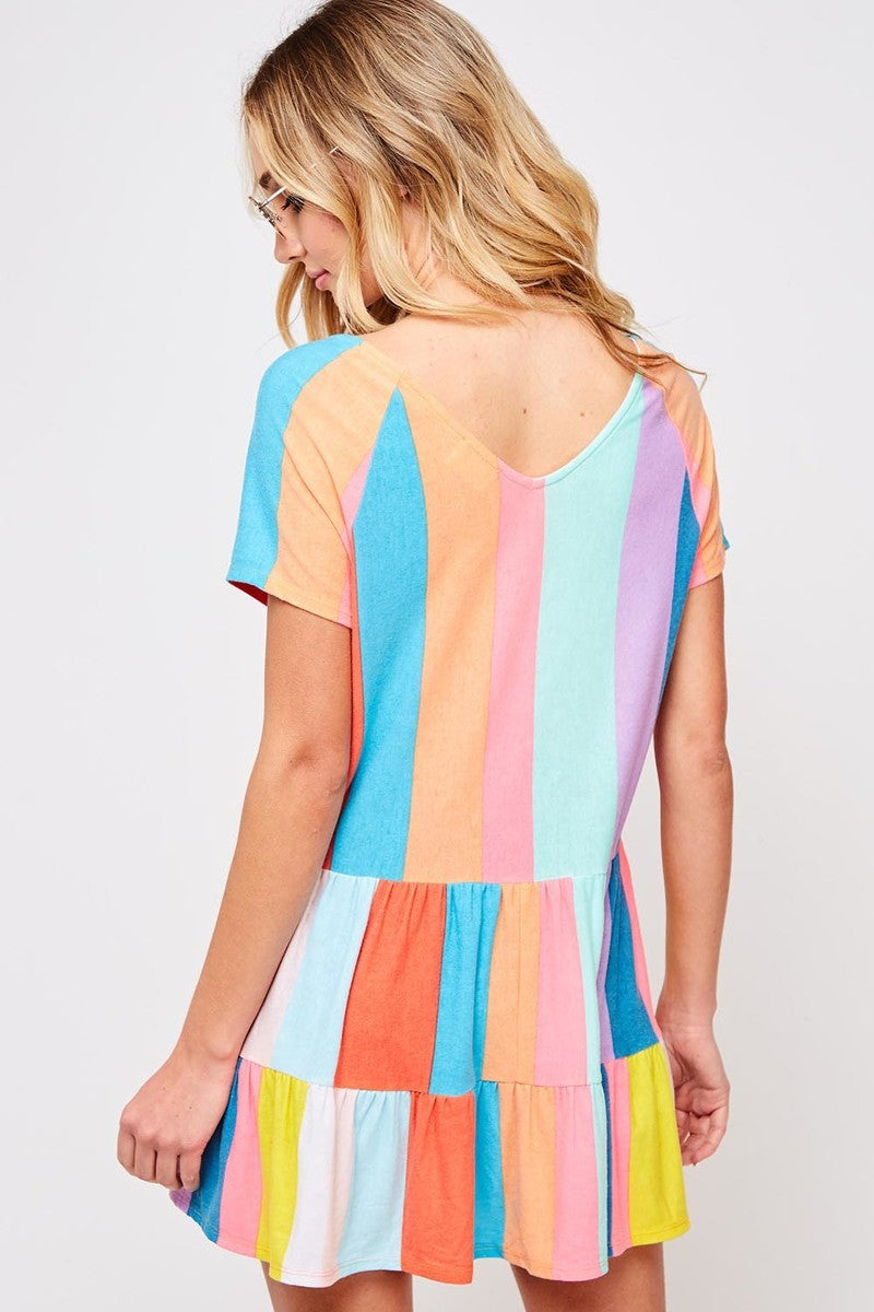 Buy Striped 2-Tier Peplum Top Multi-Color online at Southern Fashion Boutique Bliss