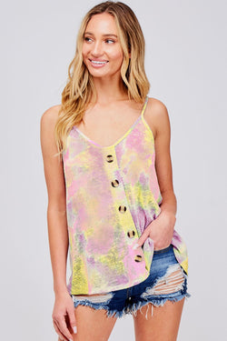 Buy Tie Dyed Button Down Top Soft Pink Lemon online at Southern Fashion Boutique Bliss