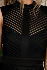 Buy Stripe Pattern Mini Bodycon Dress Black online at Southern Fashion Boutique Bliss