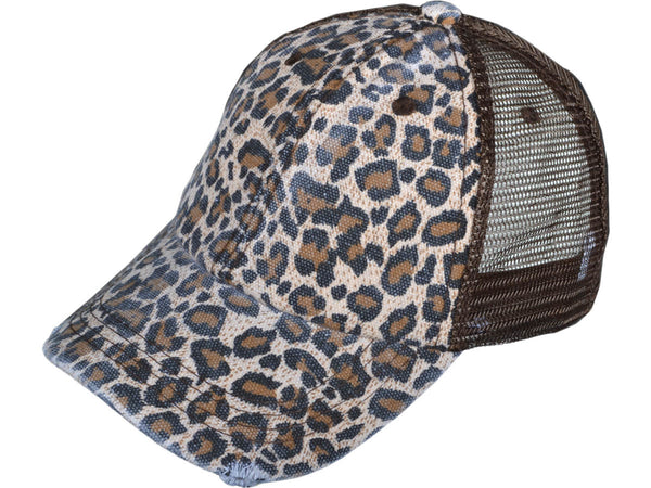 Buy Leopard Print Trucker Hat Brown online at Southern Fashion Boutique Bliss