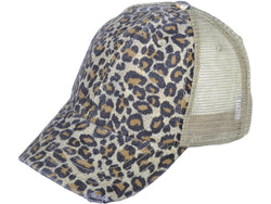 Buy Leopard Print Trucker Hat Khaki online at Southern Fashion Boutique Bliss