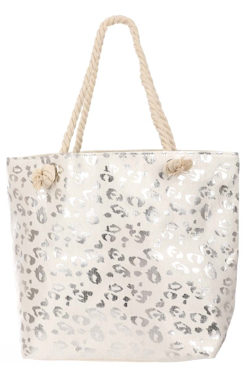Buy Leopard Print Zipper Bag Silver online at Southern Fashion Boutique Bliss