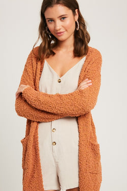 Buy Popcorn Open Cardigan w/Pockets Butterscotch online at Southern Fashion Boutique Bliss