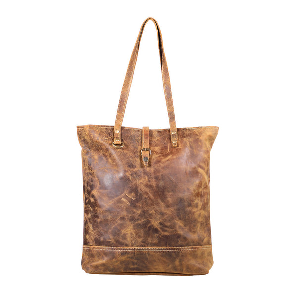 Buy Fleece Leather Tote Bag Brown online at Southern Fashion Boutique Bliss