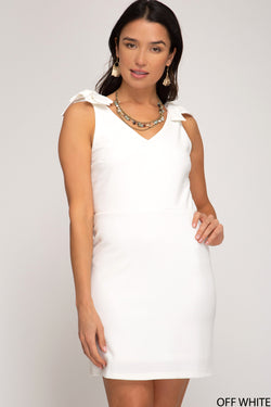 Buy Sleeveless Heavy Knit Dress Off White online at Southern Fashion Boutique Bliss