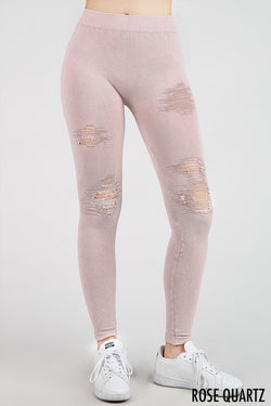 Buy Vintage Destroyed Leggings Rose online at Southern Fashion Boutique Bliss