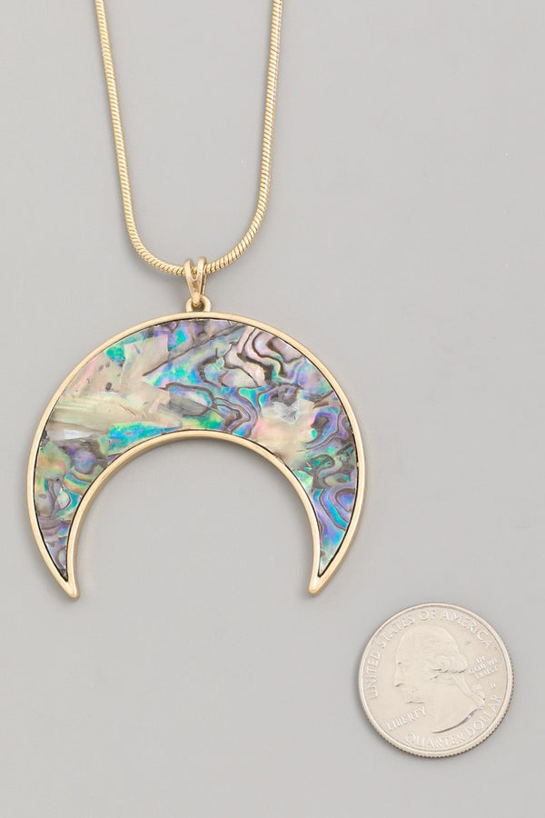 Buy Multi-Color Moon Necklace Gold online at Southern Fashion Boutique Bliss