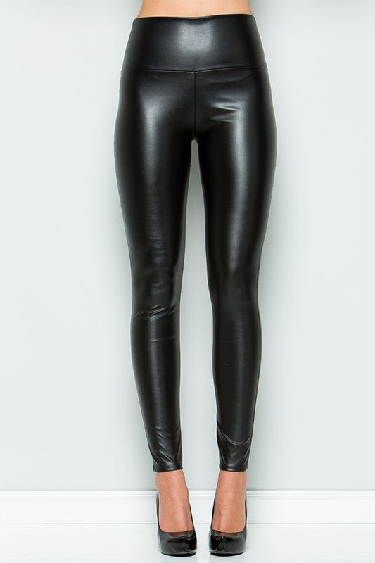 Buy Elastic Waist Faux Leather Leggings Black online at Southern Fashion Boutique Bliss