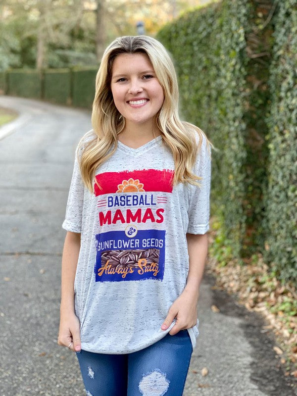 Buy Baseball Moms Sublimated Tee White Marble online at Southern Fashion Boutique Bliss