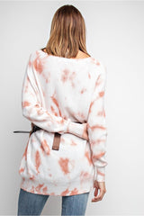 Buy Relaxed Lightweight Tie Dye Tunic Top Dried Rose online at Southern Fashion Boutique Bliss