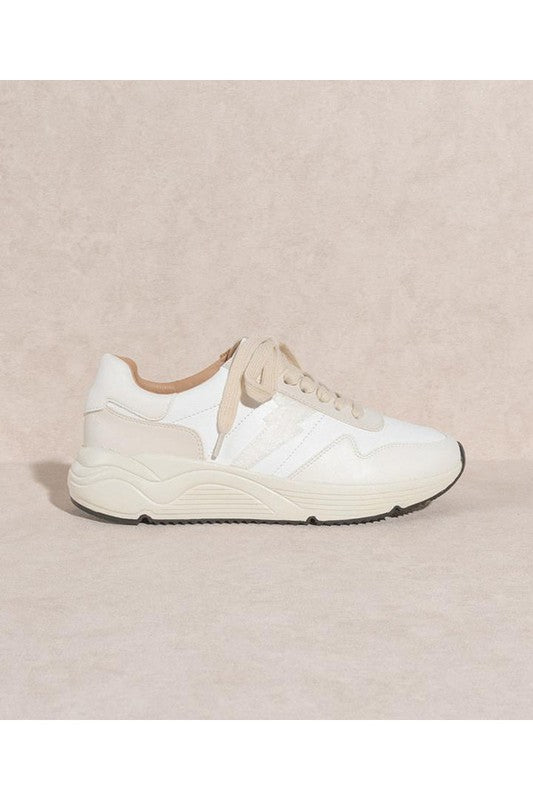Buy Athletic Style Casual Lighting Bolt Sneakers White online at Southern Fashion Boutique Bliss