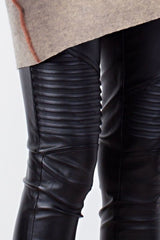 Buy Slim Fit Faux Leather Moto Leggings Black online at Southern Fashion Boutique Bliss