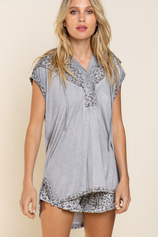 Buy Relaxed Sleeveless Hoodie Top Grey online at Southern Fashion Boutique Bliss