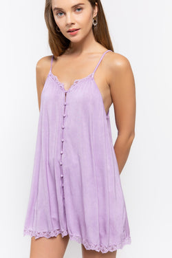 Buy Covered Button Front Cami Orchid online at Southern Fashion Boutique Bliss