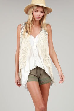 Buy Covered Button Front Cami Ivory online at Southern Fashion Boutique Bliss