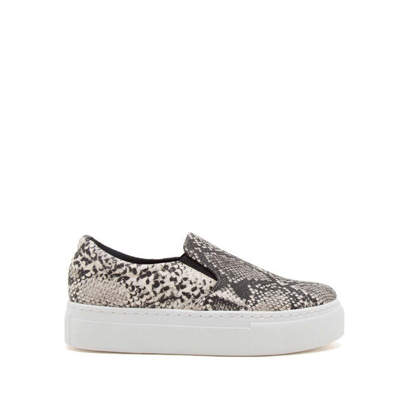 Snake Platform Step in Sneakers Stone/Black - Athens Georgia Women's Fashion Boutique