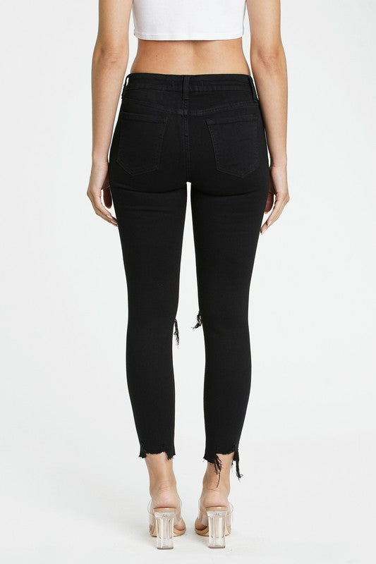 Buy Josie Mid Rise Skinny Crop Jeans Black online at Southern Fashion Boutique Bliss