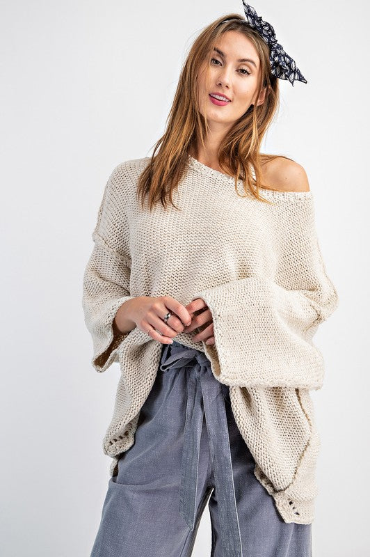 Chunky Oversize Knit Sweater Oatmeal